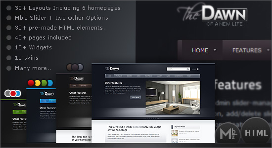 theDawn All-in-one Premium HTML Theme